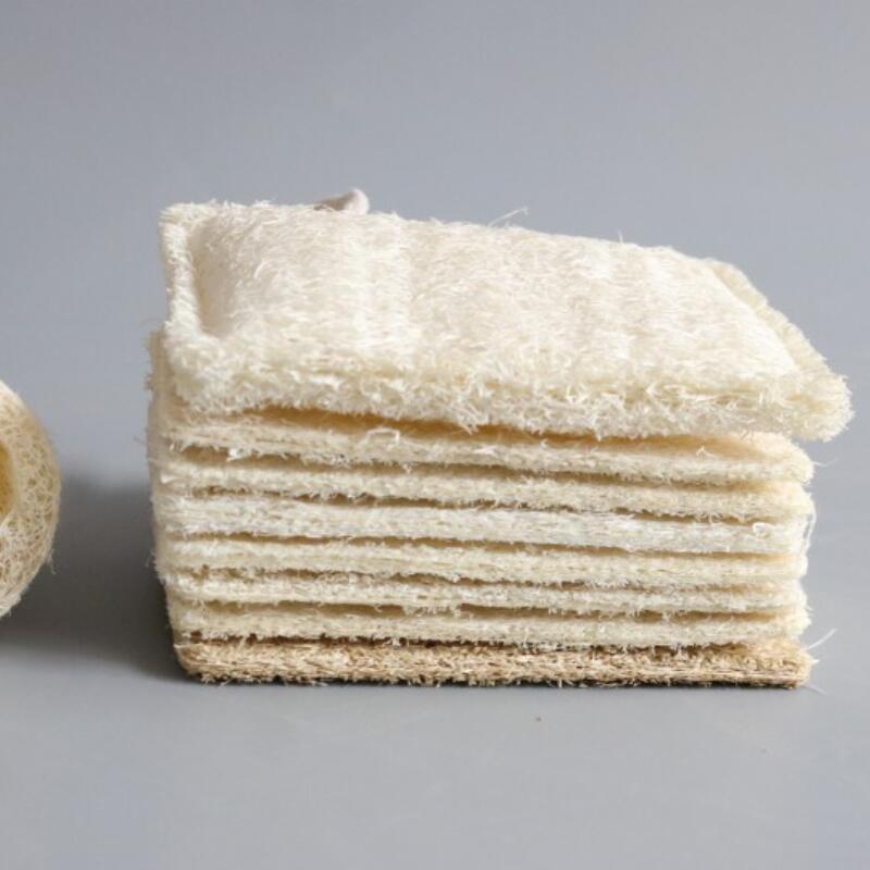 Badedusche und Spa Rechteck natürliche Lofah-Pad Peeling Luffa Entfernen Sie die tote Haut 11 * 7 cm FWF907