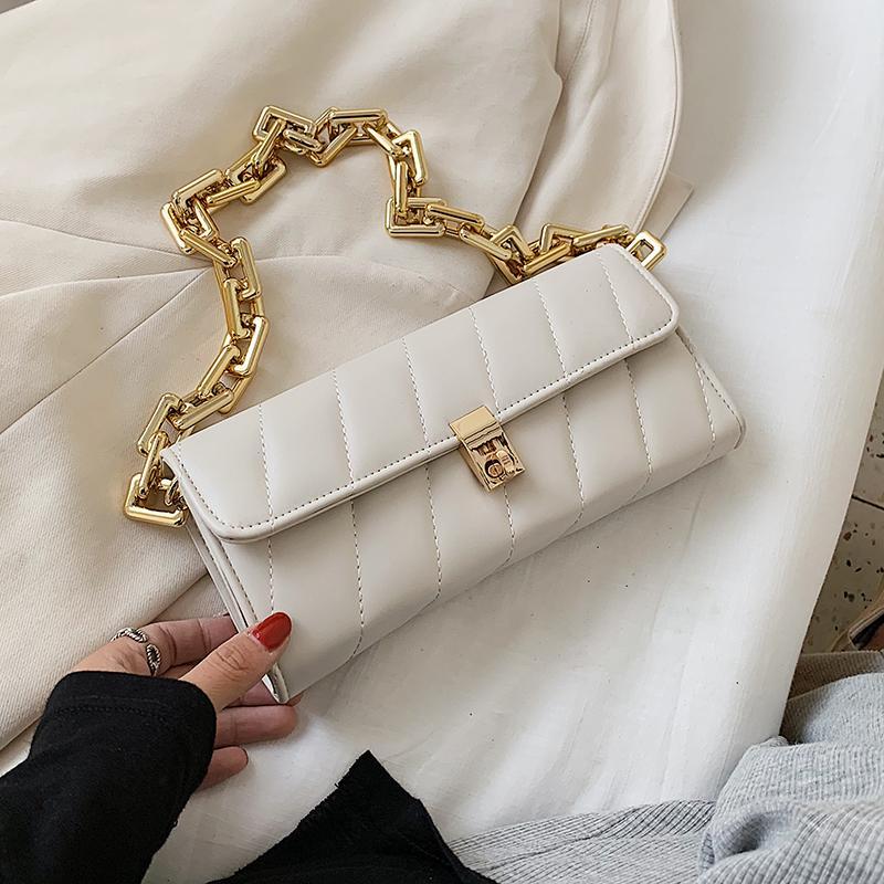 Цепь Кожа PU подмышек сумка для женщин 2020 моды сумки плеча леди сумки и кошельки женская рука сумка Простой стиль
