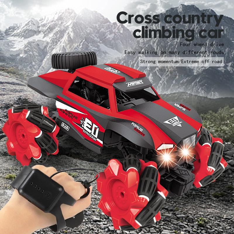 RC Car 1:16 4WD Radio Control Stunt Car Gesture Induction Twisting Off-Road Vehicle LED Light Climb Crawler Model Toys for Kids