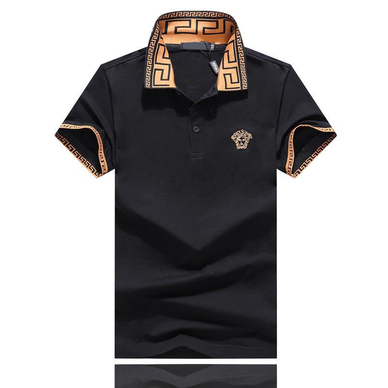 남성 짧은 소매 남성 캐주얼 디자이너 폴로 셔츠에 대한 패션 폴로 자수 여름 남성 디자이너 t 셔츠 칼라 꿀벌 문자를 거절