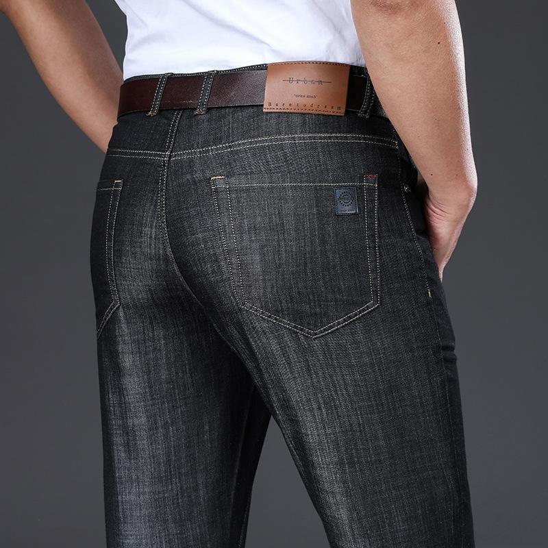 novo verão pele-friendly negócios de jeans finos modais dos homens e jeans casual calças dos homens soltos calças finas retas GanmP