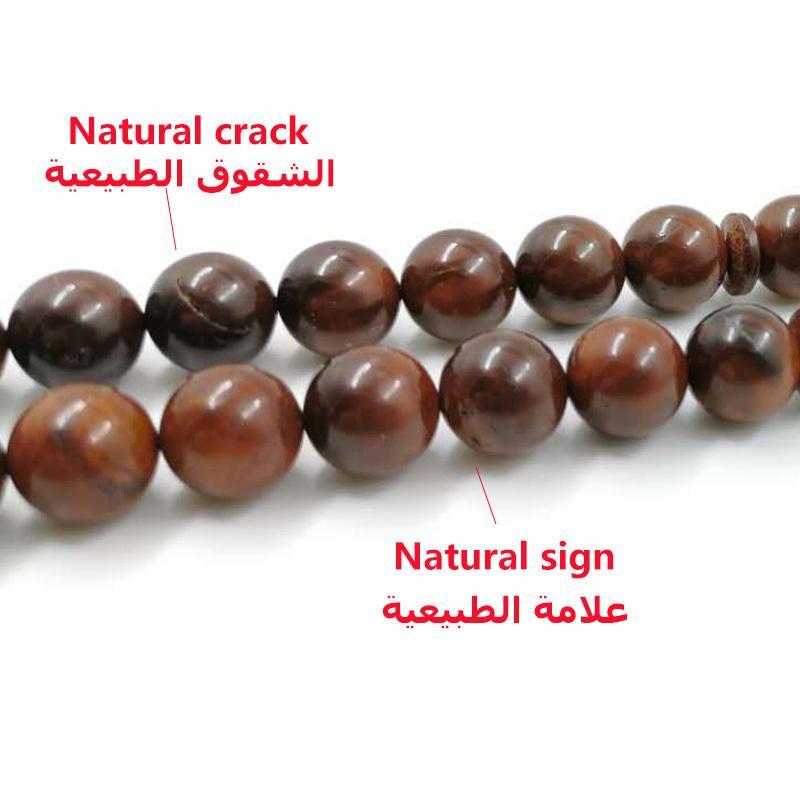 Masbaha oração 33 pérolas naturais de madeira Cozinhe Tasbih MAN 2 TAMANHO Rosário Y200810