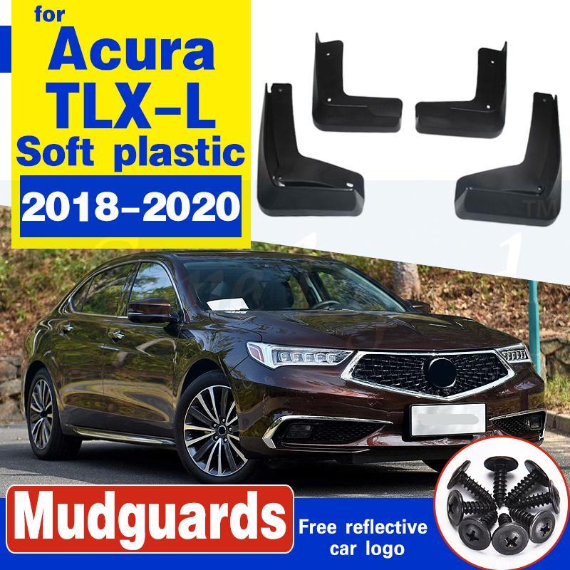 protection de pare-chocs de bavette de roue arrière avant de voiture pour Acura TLX-L 2018-2020 Garde-boue Garde-boue en plastique souple Mudflaps Accessoires