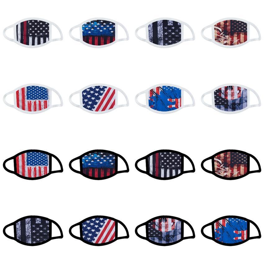 Máscaras Trump cara del cráneo de impresión máscaras protectoras de polvo máscaras reutilizable lavable de algodón en la boca de la bandera americana Máscara CYZ2666 100 piezas