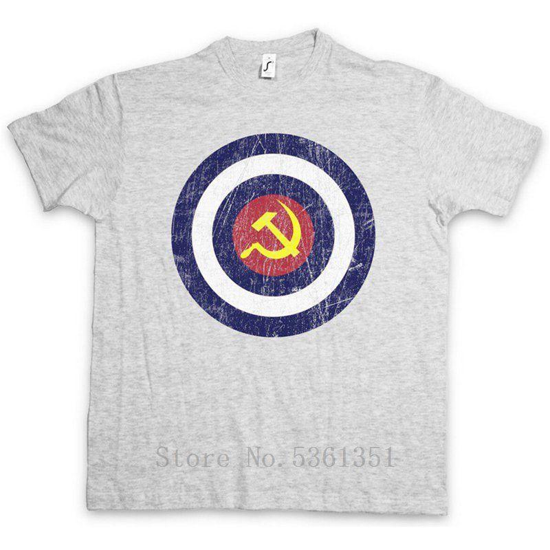 Capitão Comunismo T-shirt América Fun socialismo comunista do martelo e da foice ocasional tshirt camisa da forma homens tshirt engraçado t