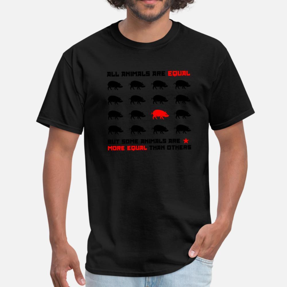 Tous les animaux sont égaux 2 t hommes shirt personnalisé 100% coton O-Neck formelle fou Respirant chemise Lettre printemps