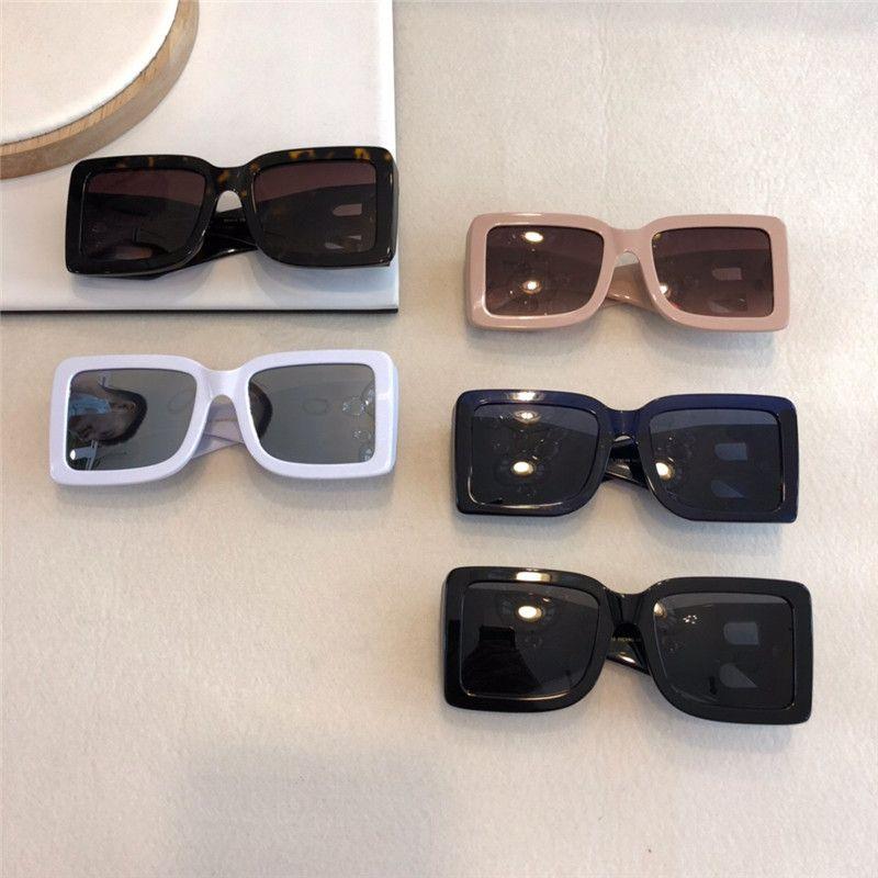 Nuovi occhiali da sole design in metallo 4312 piazzale cornice retrò lettera bicchieri B stile di moda cornice quadrata UV 400 lenti