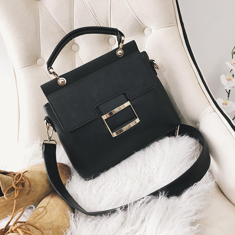 2020 New Popular Womens Bag Spring New Model Womens Korean-Style Fashion Wide Shoulder Strap Hand Carrying and Shoulder Carrying Aslant Squa