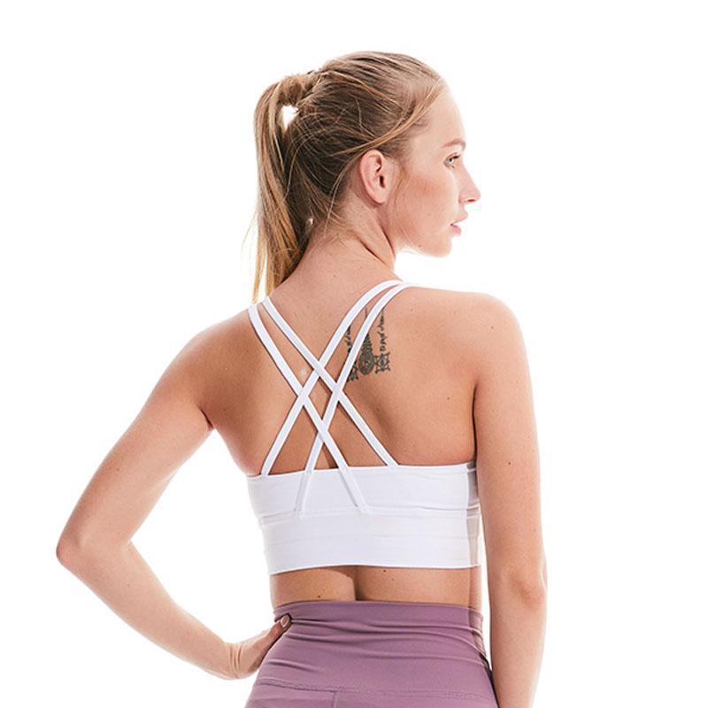 Sexy Sport Soutien-gorge haute résistance antichocs Pas Rims Yoga Débardeur Femmes Fitness Gym Sport Courir Entraînement Vest