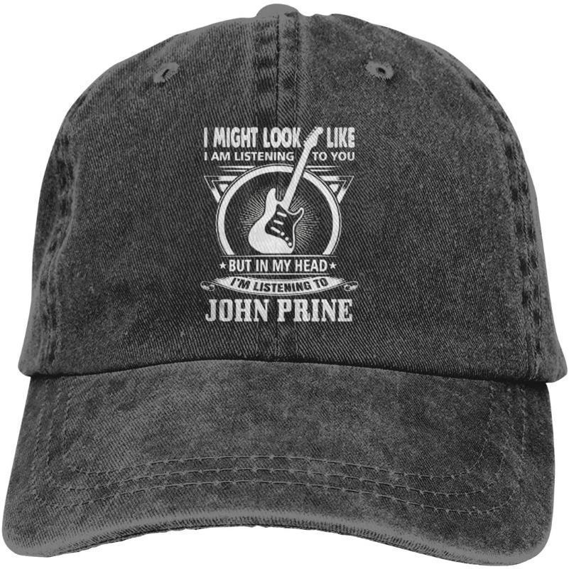 AngelaHenderson unisexe John T-shirts Prine cool adulte réglable Denim Cowboy Hat Casquette