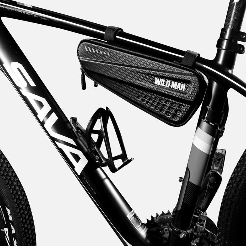 YABANİ MAN Sert Bisiklet Çantaları MTB Bisiklet Cep Telefonu Kılıf Döngüsü Çerçeve Ön Baş üstü Tüp Üçgen Kılıfı Bisiklet Çanta Aksesuarları