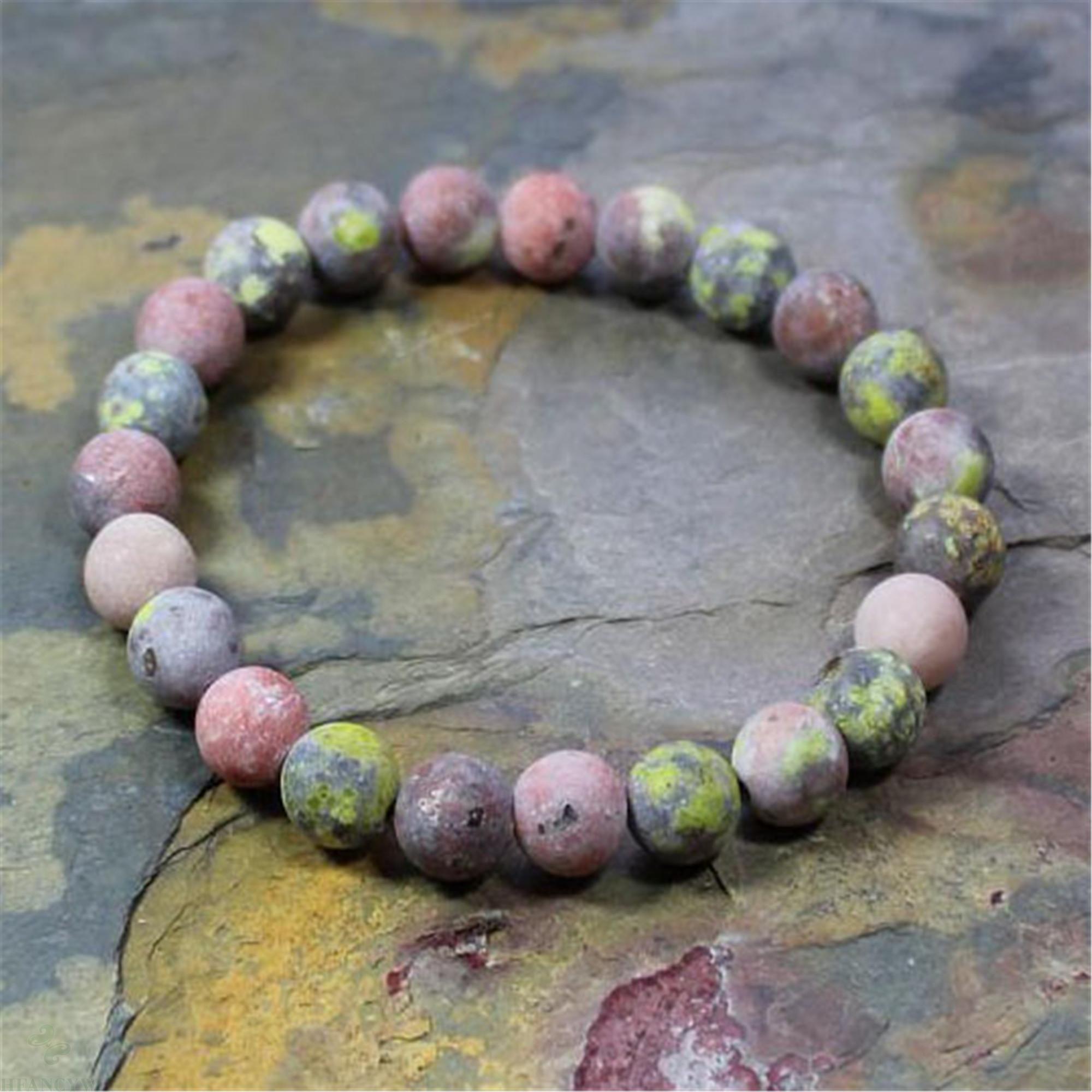 8mm natürliche Lepidolite Handgemachte Mala Armband Chakas Glücks Cuff Pray Yoga Ruyi Heilung Stretchy Reiki Bless Buddhismus