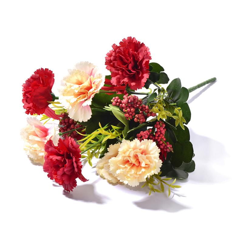 10 Heads Splendid Artificial Carnations Flowers Bouquet DIY Flower Mother's Day Gifts Wedding Home Christmas Decoration