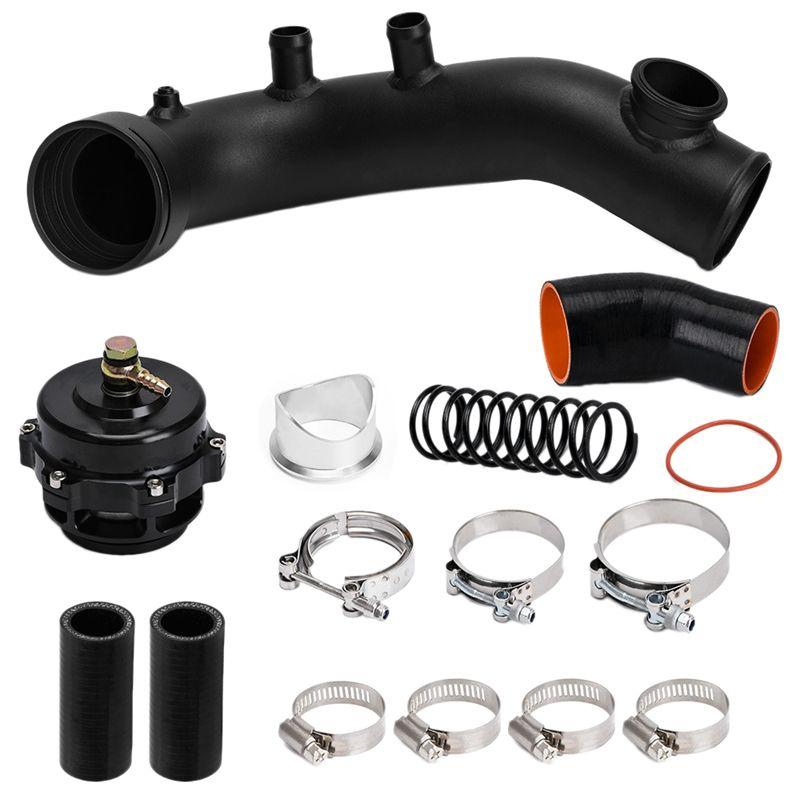 Durchfluss Intake Turbo Chare Rohrsatz Tial Flansch 50MM BOV für N54 E88 E90 E92 E93 135I 335I