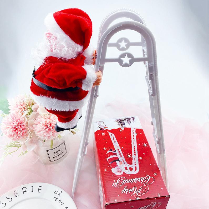 Suba Santa Claus eléctrico Nueva juguetes dobles de escalera colgante de la muñeca de la decoración del árbol de navidad Adornos K
