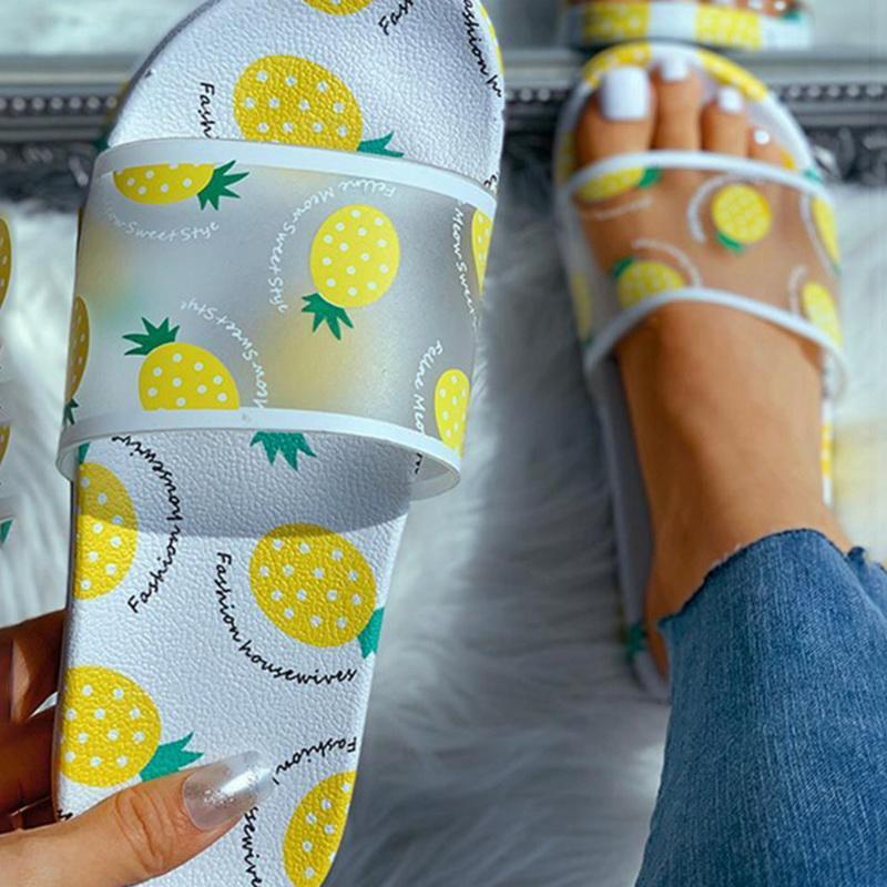 vertvie Summer Slippers Sandals Shoes 2020 Transparent Open Toe Flip Flops Women Outdoor Casual Flat Beach Shoes