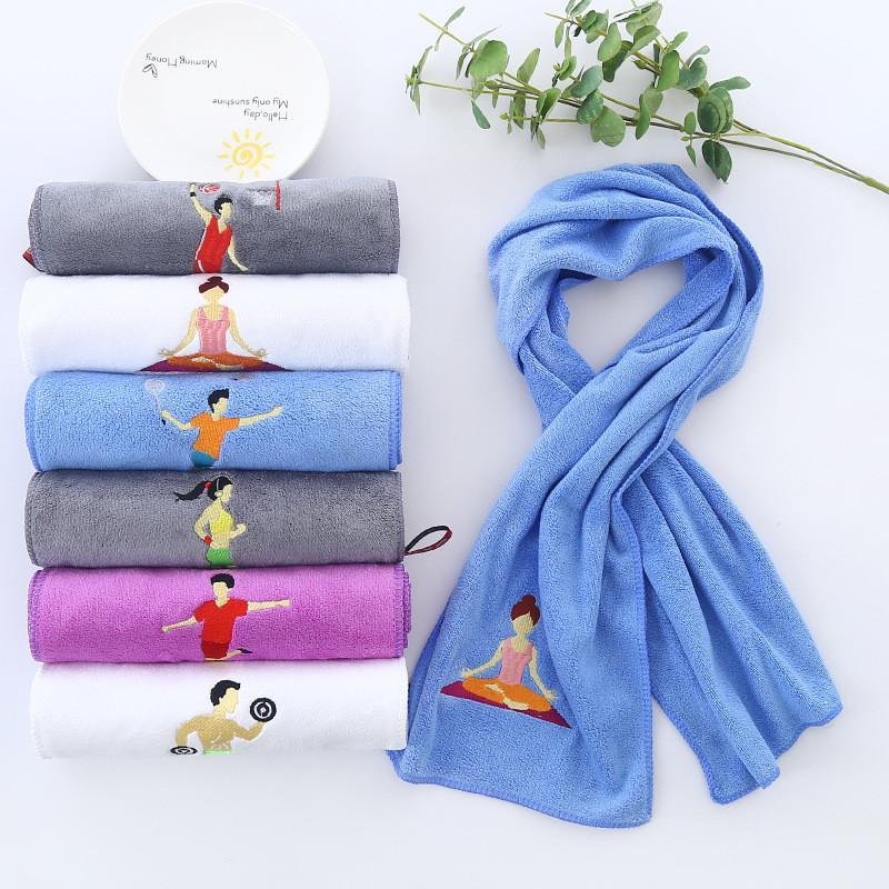 Asciugamano Sport Estate Yoga Sudore assorbente secchezza rapido Sport Asciugamano Nylon Yoga Esecuzione del tovagliolo 25 * 110CM Asciugamani