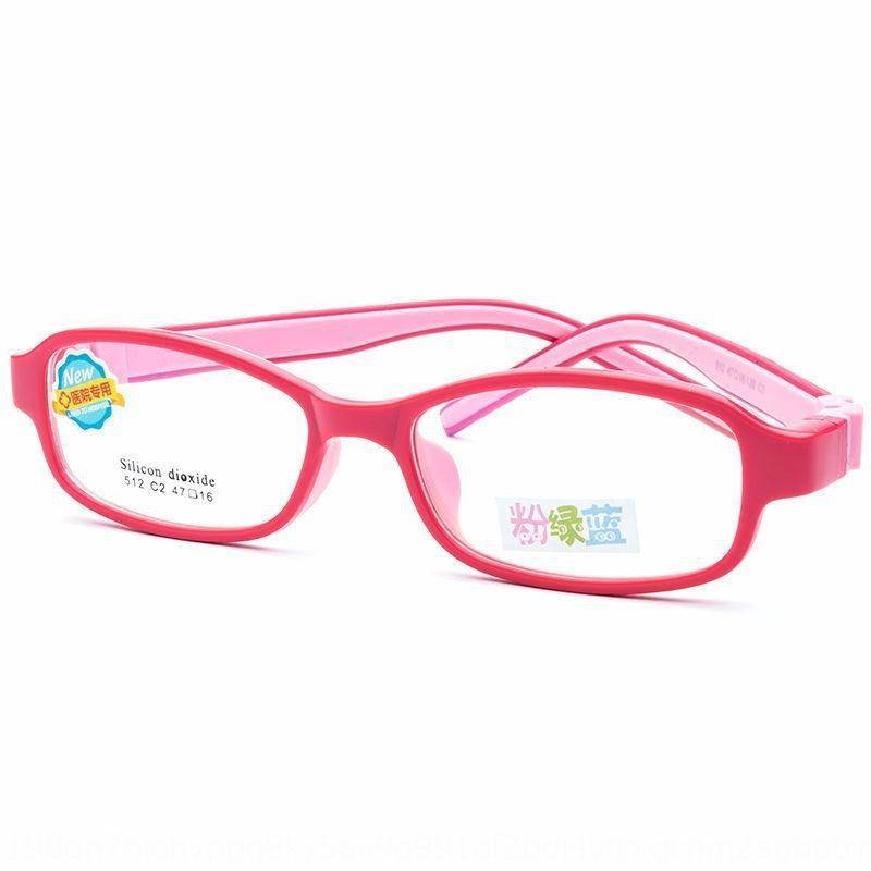 Jagger Z512 silicone lunettes cadre à deux couleurs tous les étudiants de l'amblyopie optique porte-nez en silicone lunettes même ventes