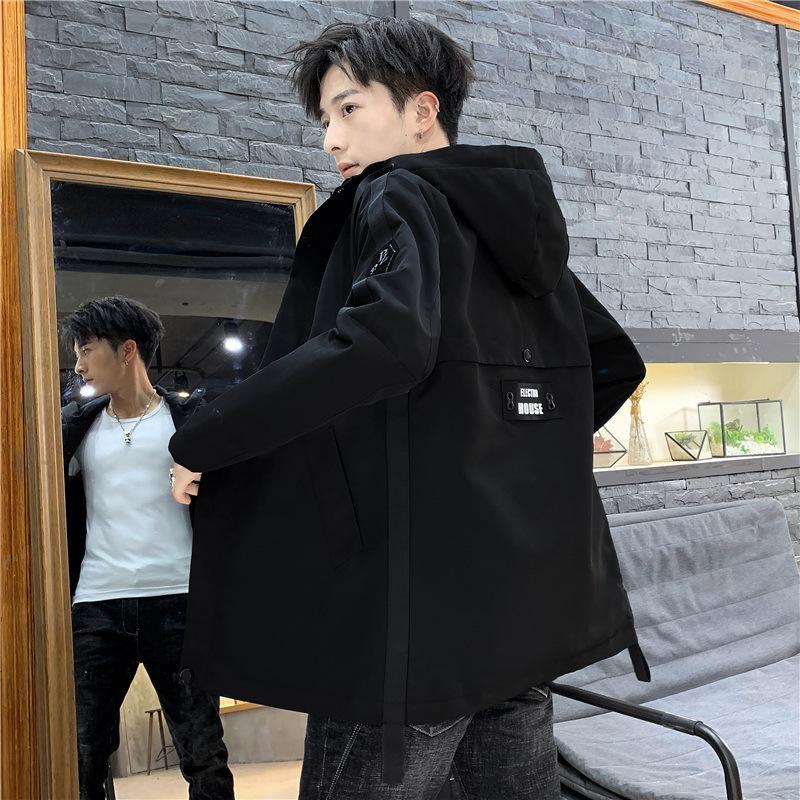 blusão corta-vento e jaqueta Primavera ocasional plus plus tamanho de comprimento médio casaco elegante grande outono tamanho dos homens de gordura do 55YtZ IcrnO Fat Man