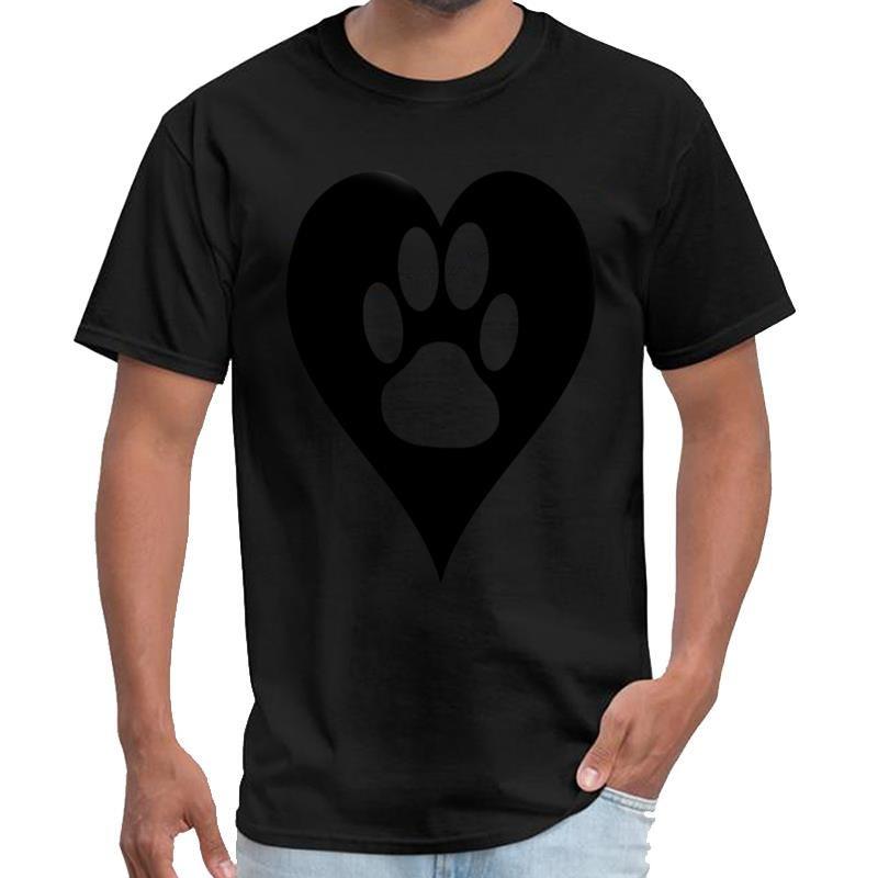 Kalp xxxtentacion gömlek erkekler kaya tshirt s-6XL sloganımızı Baskılı Paw