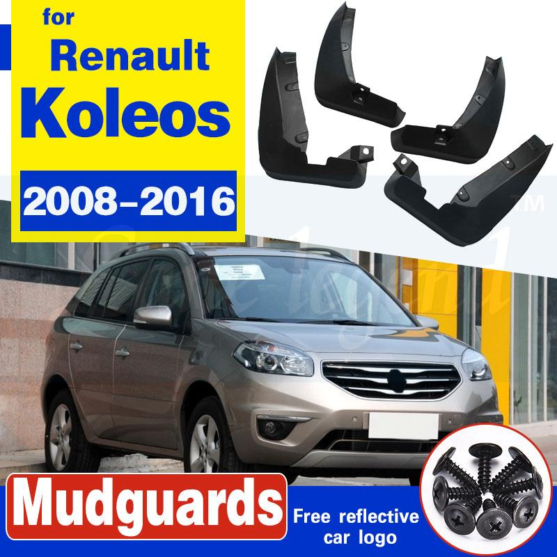 Set de boue voiture Rabats pour Renault Koleos 1 2008-2016 bavettes garde-boue boue Garde-boue Flap garde-boue avant arrière 2009 2010 2011 2012