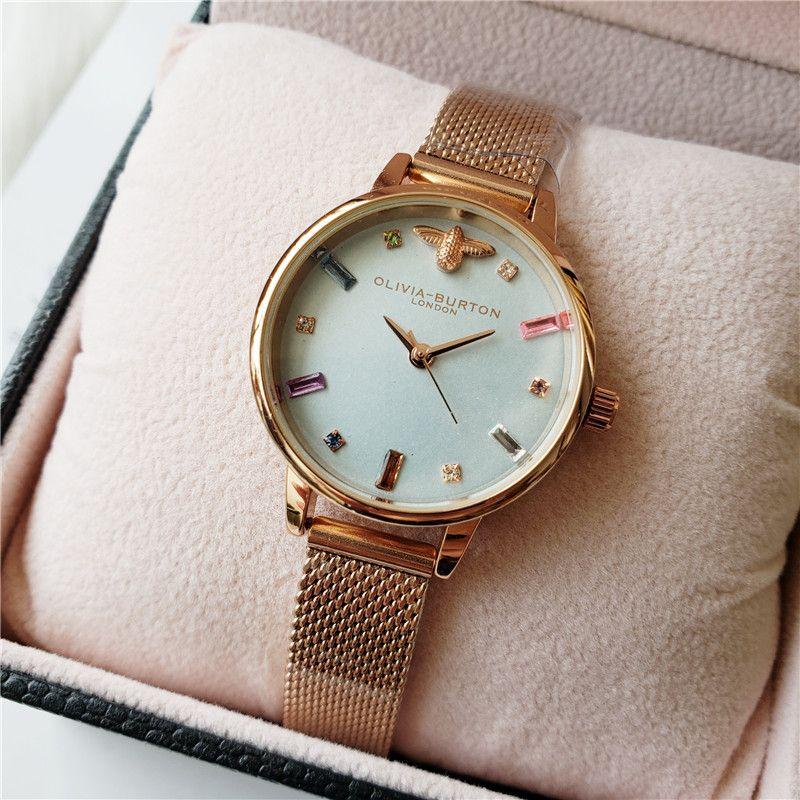 Nuevo de las mujeres de moda de lujo Milán correa de reloj de cuarzo analógico reloj de manera del reloj de señoras