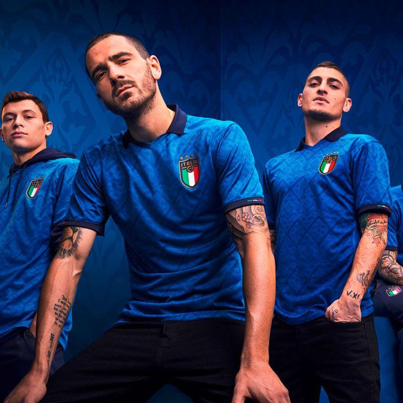 2020 Italie Jersey de football Home Blue Nation Équipe 20/21 Away Blanc # 19 Bonucci # 10 Insigne Troisième Chemise de football de football vert