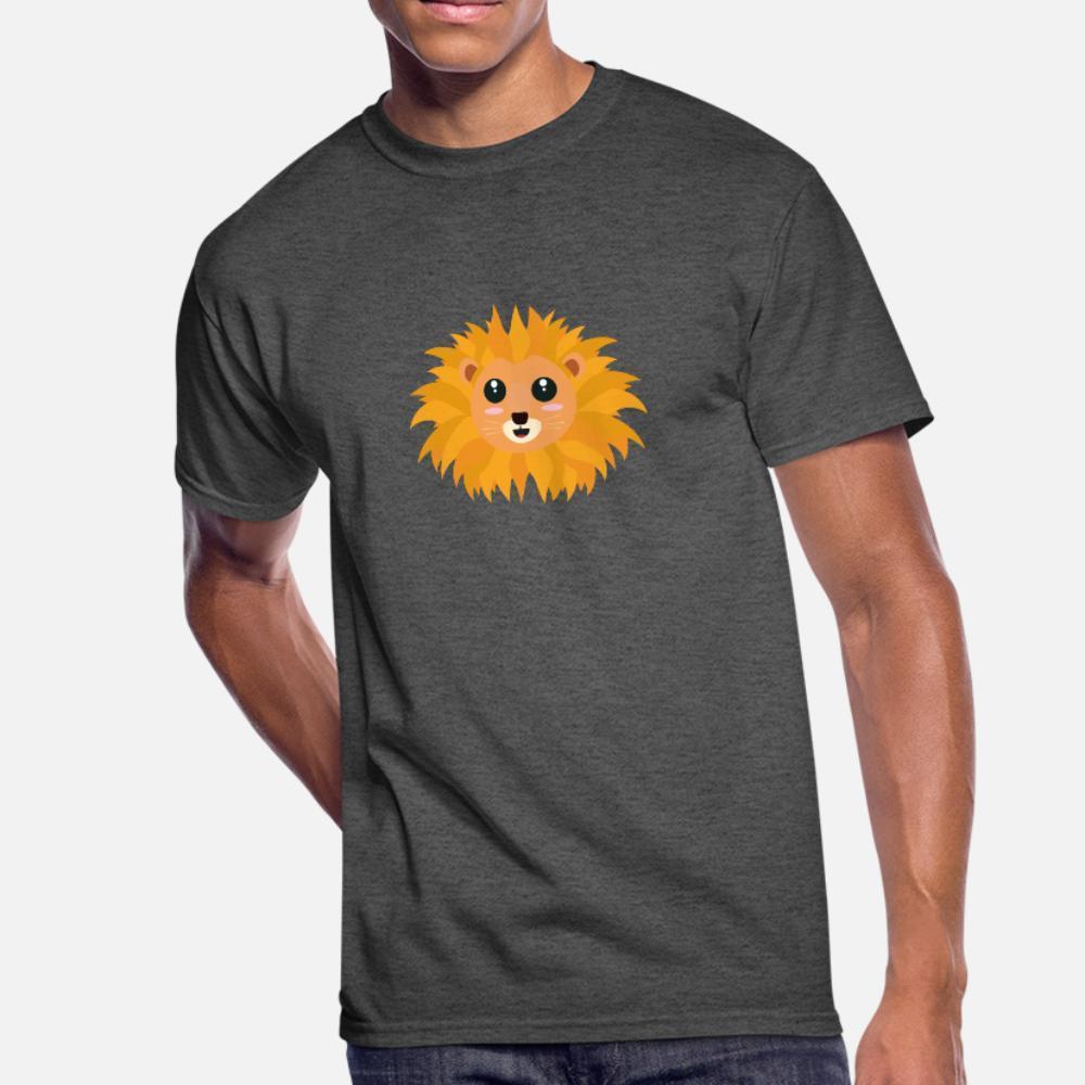 Kawaii Lion Head S9dq4 Camiseta Homens Criar Cotton Plus Size 3xl Carta Solta Funny Spring Tendência shirt