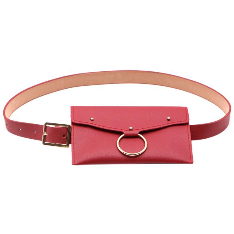 Fanny Soft Pack Taschen Pu Frauen Reisetasche Mädchen Mode Gürtel Tasche Tasche Taille Geld Taille QKCNO