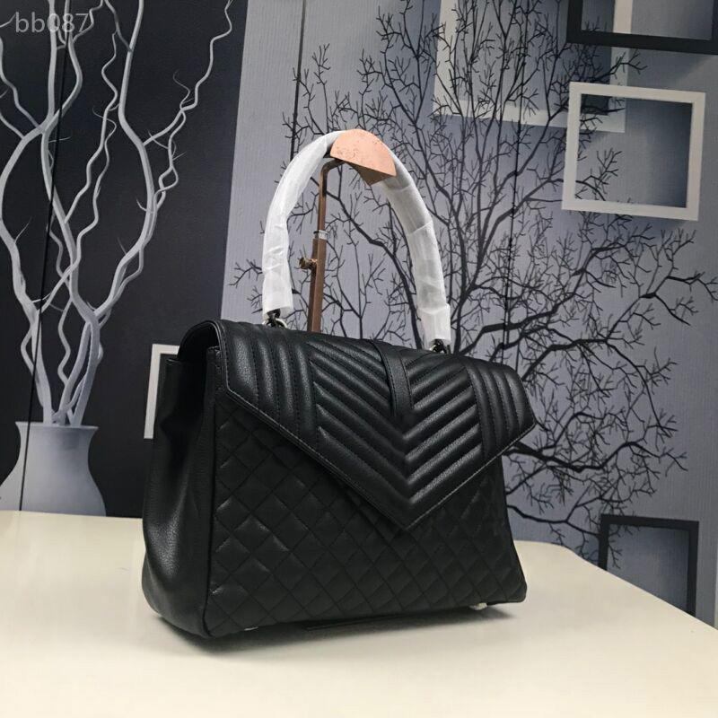 Estilo Clásico británico bolsos importados cabra piel de las mujeres de hombro bolsos de las señoras de cuero de doble compartimiento de la bolsa de mensajero Bandoleras Bolsas Type2