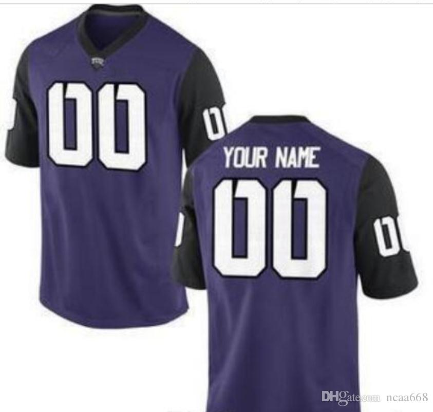 CUSTOM Men,Youth,women,toddler, TCU Horned Frogs Personalized ANY NAME AND NUMBER ANY SIZE Stitched Top Quality College jersey