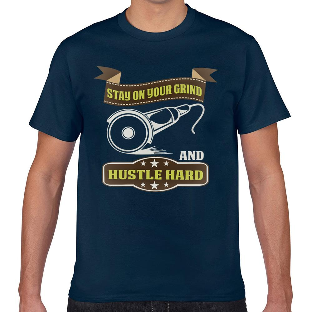 Tops T Shirt Men Zeke Side Hustle Basic Black Curto Masculino Camiseta