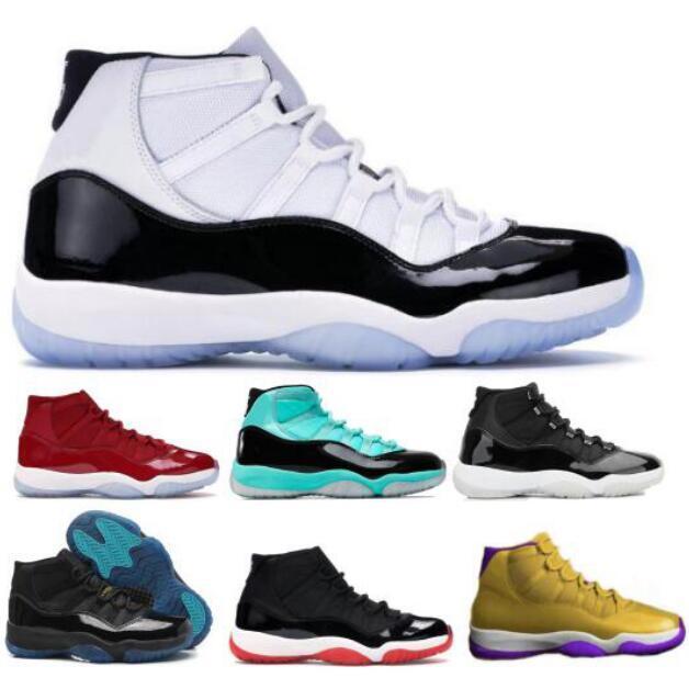 Mens 11 11s Tênis de basquete Sneakers Concord 45 25º aniversário Gym Espaço Red Jam Jumpman Gamma XI 2020 Chegada Nova Mulheres Formadores Sapatos