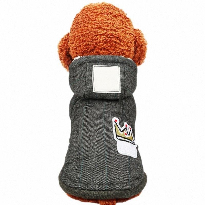 İki Ayaklar Kış Köpek Giyim Süper Sıcak Ve Yumuşak Pamuk yastıklı Köpek Kış Pet Köpek Ceket VDUA #