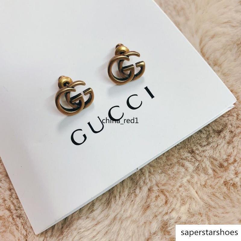 Italia gioielli retrò rame alfabeto donne Elagant design di qualità superiore prigioniero Tipo di orecchini con scatola