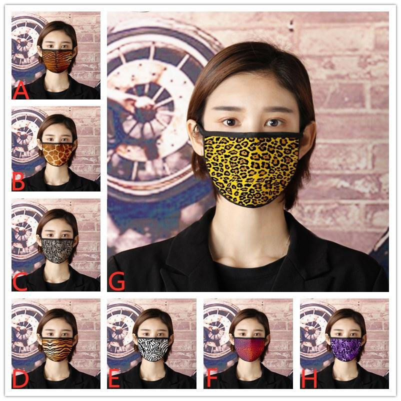 Máscara Textura animal adulto Niños a prueba de viento a prueba de polvo de la mascarilla máscaras 3D Impreso de algodón reutilizable se puede lavar DHA414