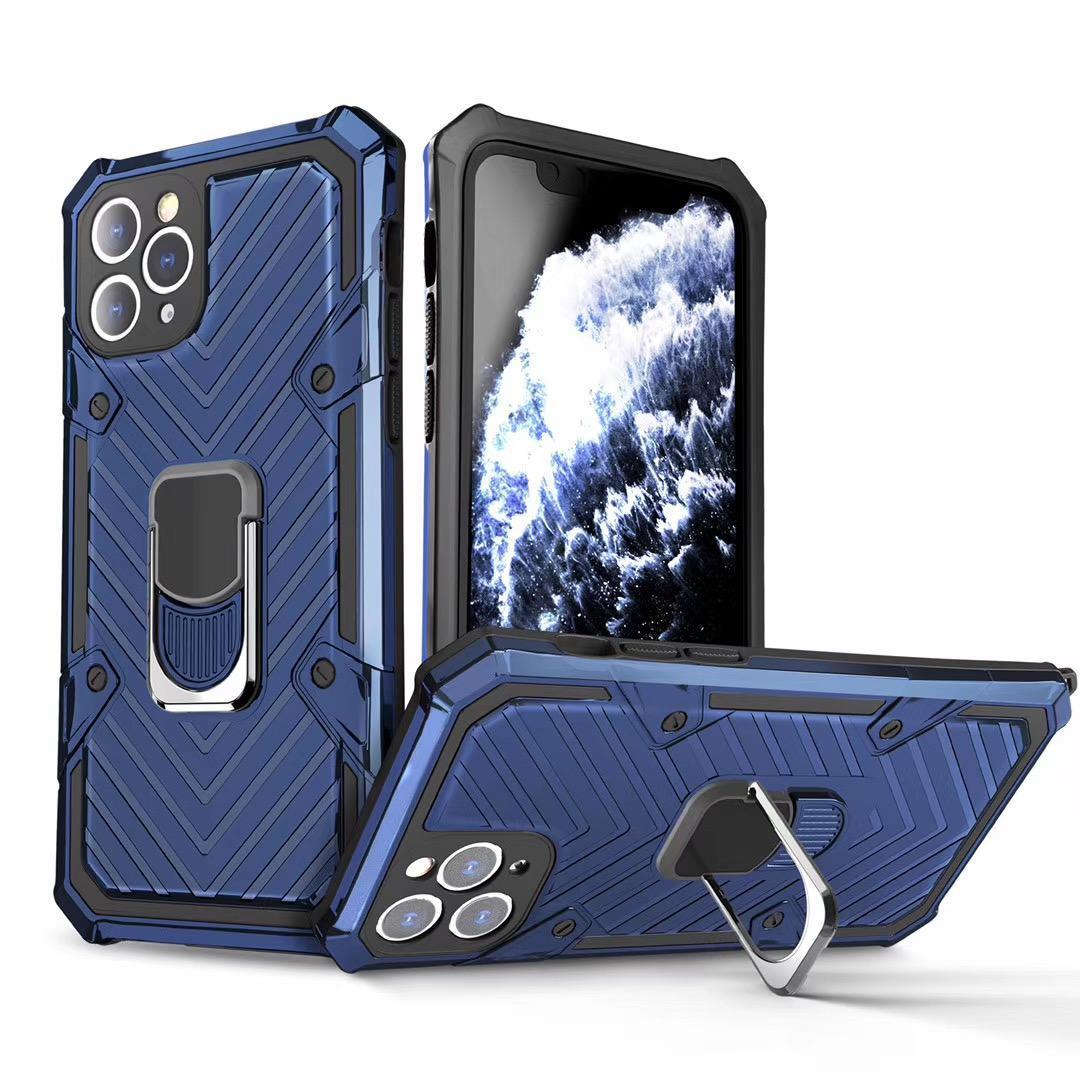 Çubuğu Kılıf iPhone 12 Pro maksimum XR 7 Telefon Kılıfları Darbeye Zırh Parmak Manyetik Halka Tutucu Kapak For Samsung S20 Ultra Değil Anti-Fall