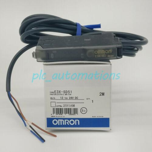 New in box Omron E3X-SD51 optical fiber amplifier E3XSD51 1 year warranty &PA