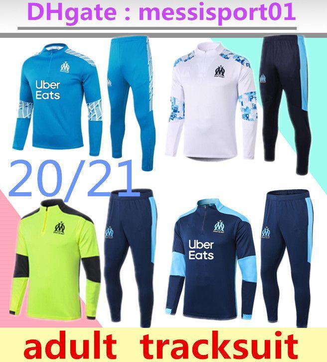 2020/21 Olympique de Marseille TRACKSUIT Training suit soccer SET L.GUSTAVO PAYET 2020 2021 new OM Marseille football coat TRACKSUIT