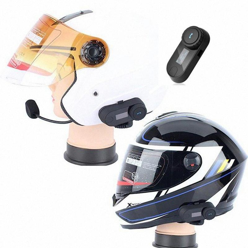 2020 New Motorcycle Full Face Helmet Headset Earpiece For Two Way Radio Baofeng Walkie With LED FM Radio For All Helmet Good Cheap Mot xk5h#
