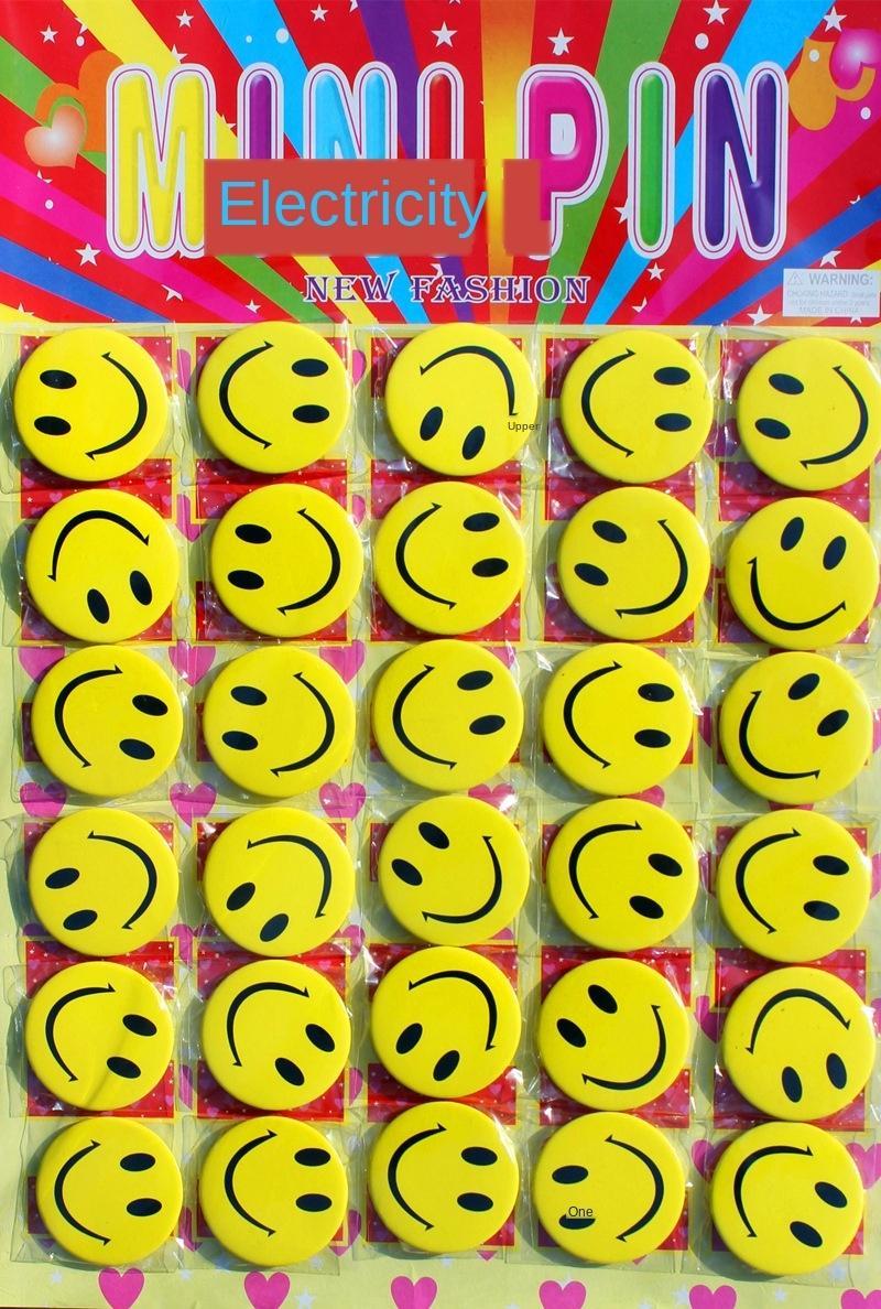 EwYqO * Pin lächelndes Gesicht Pin lächelnd Servicekarte Hotel Catering Abzeichen Personalkarte Cartoon personalisiertes Badge Brust