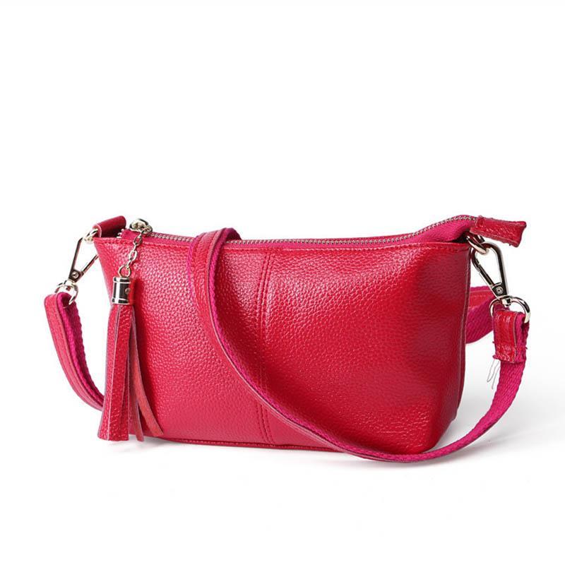 حقائب جلد طبيعي الإناث متعددة الوظائف حقيبة سفر مصغرة حقيبة أمي المرأة الناعمة حقيبة الكتف حقيبة عالية