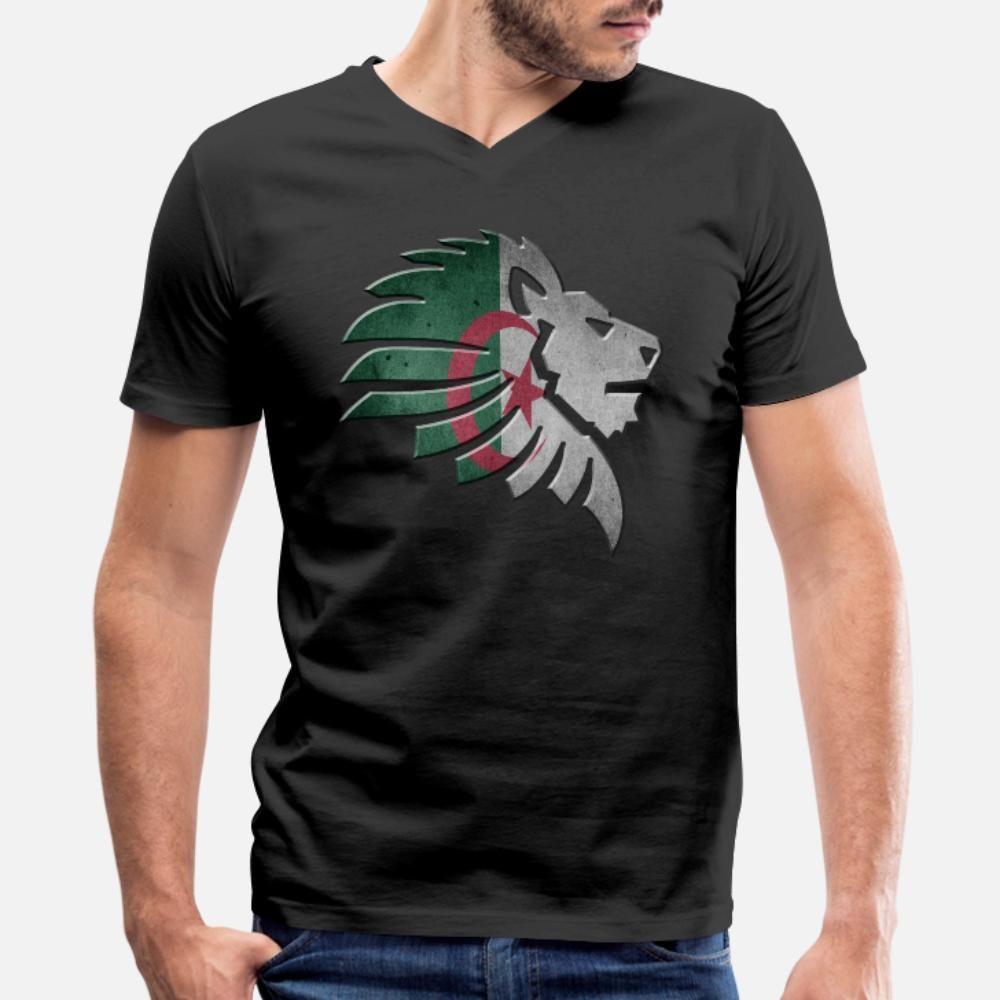 Algerien-T-Shirt Männer losen Kurzarmshirt mit runden Ausschnitt Trend lose Art und Weise Sommer-Buchstabe