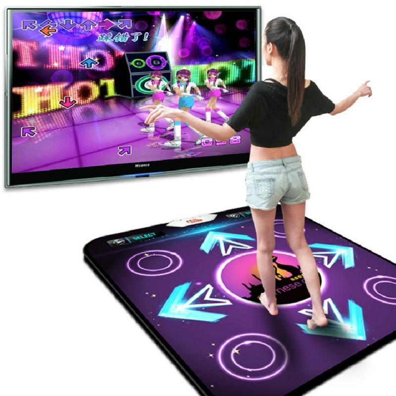 No Slip Mat danza del paso de la almohadilla de detección de movimiento inalámbrico Mat Bailar precisa impresión del pie juego de fitness Mats juego de ratón TVB