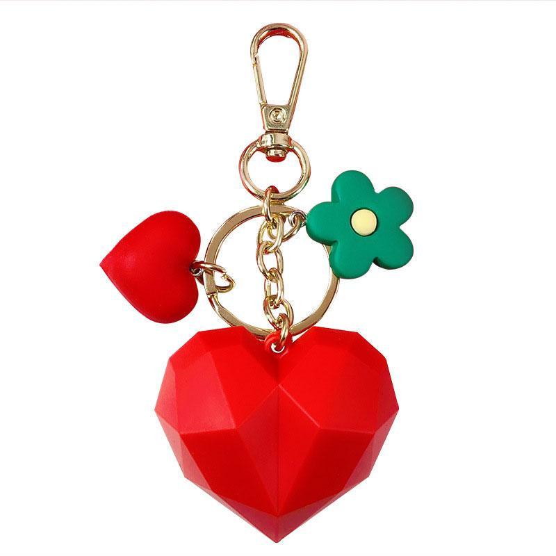 Regalos del recuerdo corazón del amor llavero personalidad popular de la bolsa titular de la llave del coche colgante