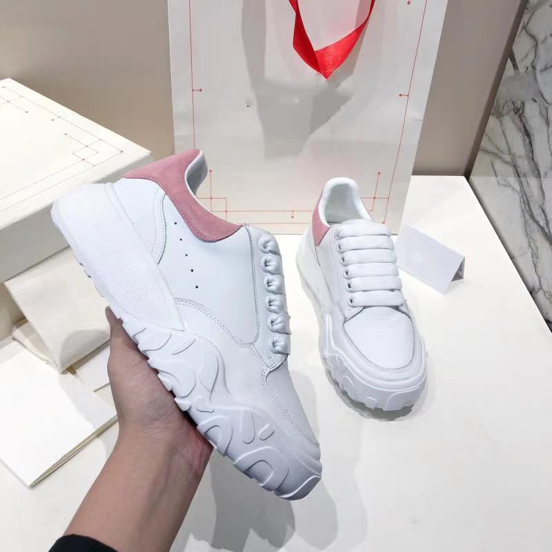 2020 Designer Shoes donne oversize Corte formatori Vitello Lace-up della piattaforma formatori Runner Casual Scarpe Party Dress scarpe con la scatola