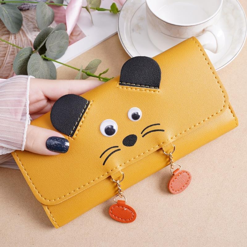 5jxfv 2020 new women's short Korean cartoon cute small wallet creative personalized student women's wallet