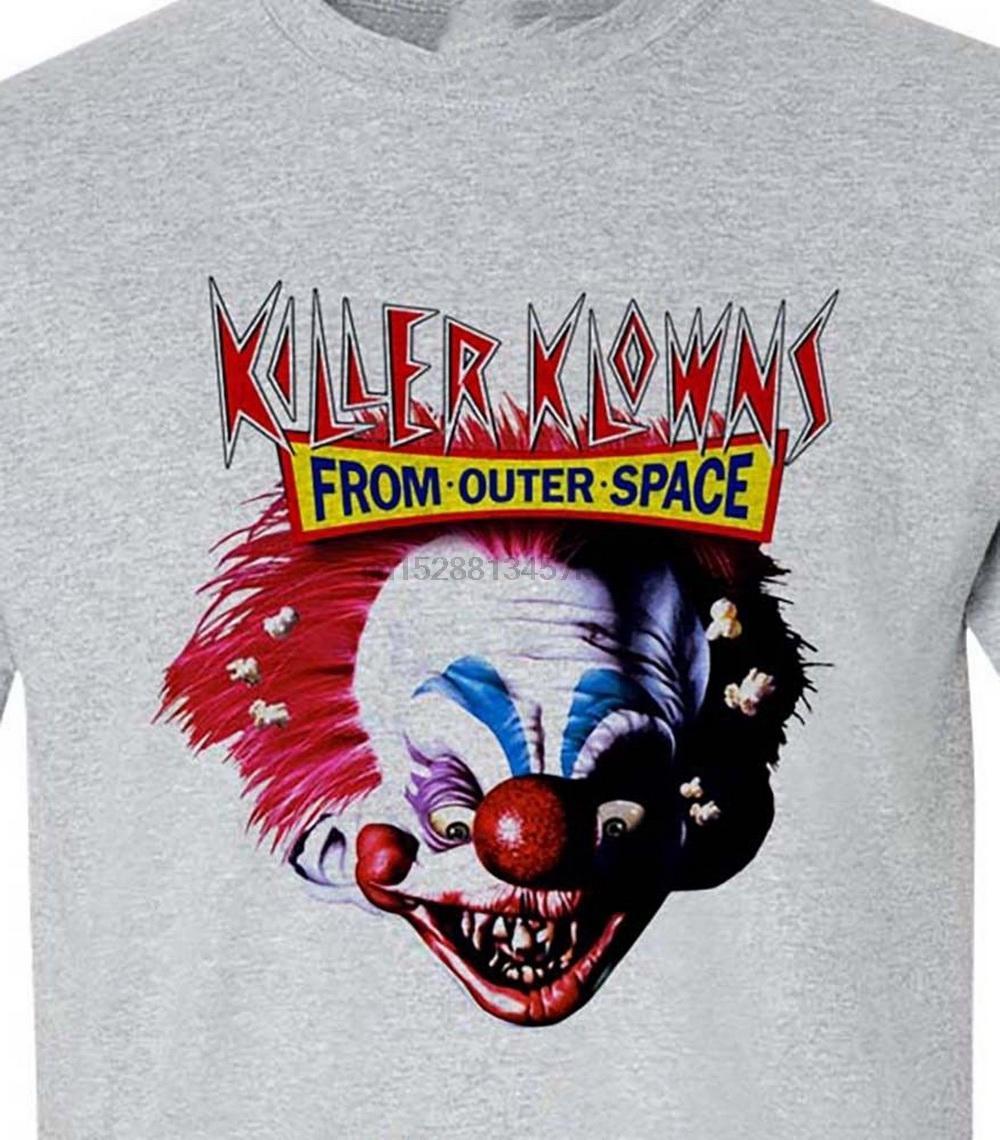 Клоуны-убийцы из космоса Футболка ретро 1980s фильм ужасов 100% хлопок Tee тавра футболочки