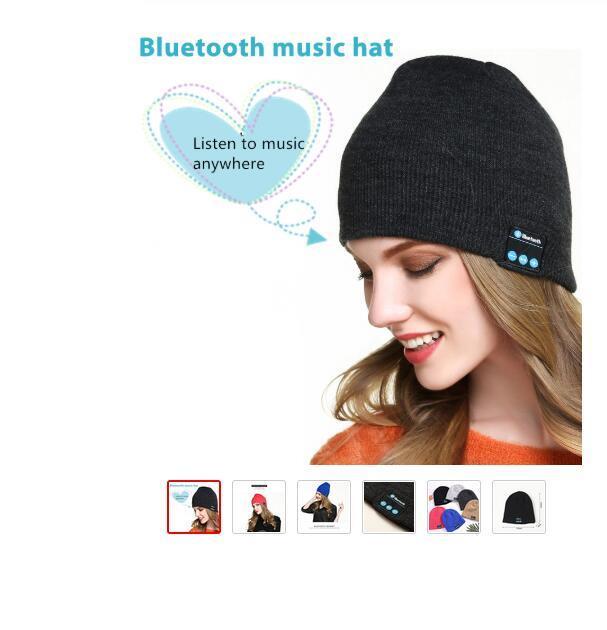Xiaomi Huawei Samsung iphone için Hoparlör ile 2020 Yeni Kablosuz Bluetooth Kulaklık Sport Müzik Şapka Akıllı Kulaklık Beanie Cap Kış Şapka