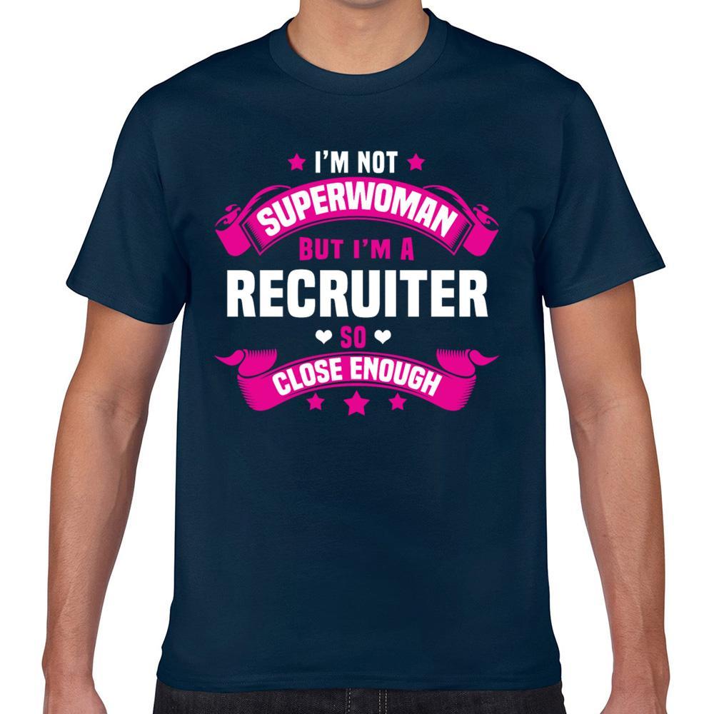 Tops camiseta de los hombres reclutador Vogue Hombre cosecha corta camiseta